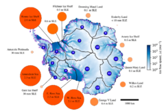 Antarctic vulnerability to localized ice shelf collapse - mass loss
