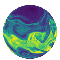 baroclinic instability in SCREAM simulation