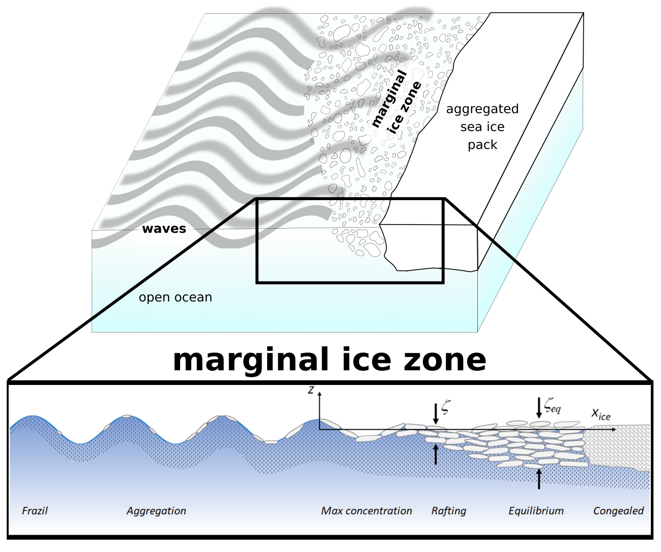 Wave and sea ice interactions
