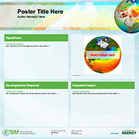 poster template - green