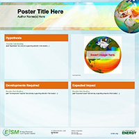 poster template - orange