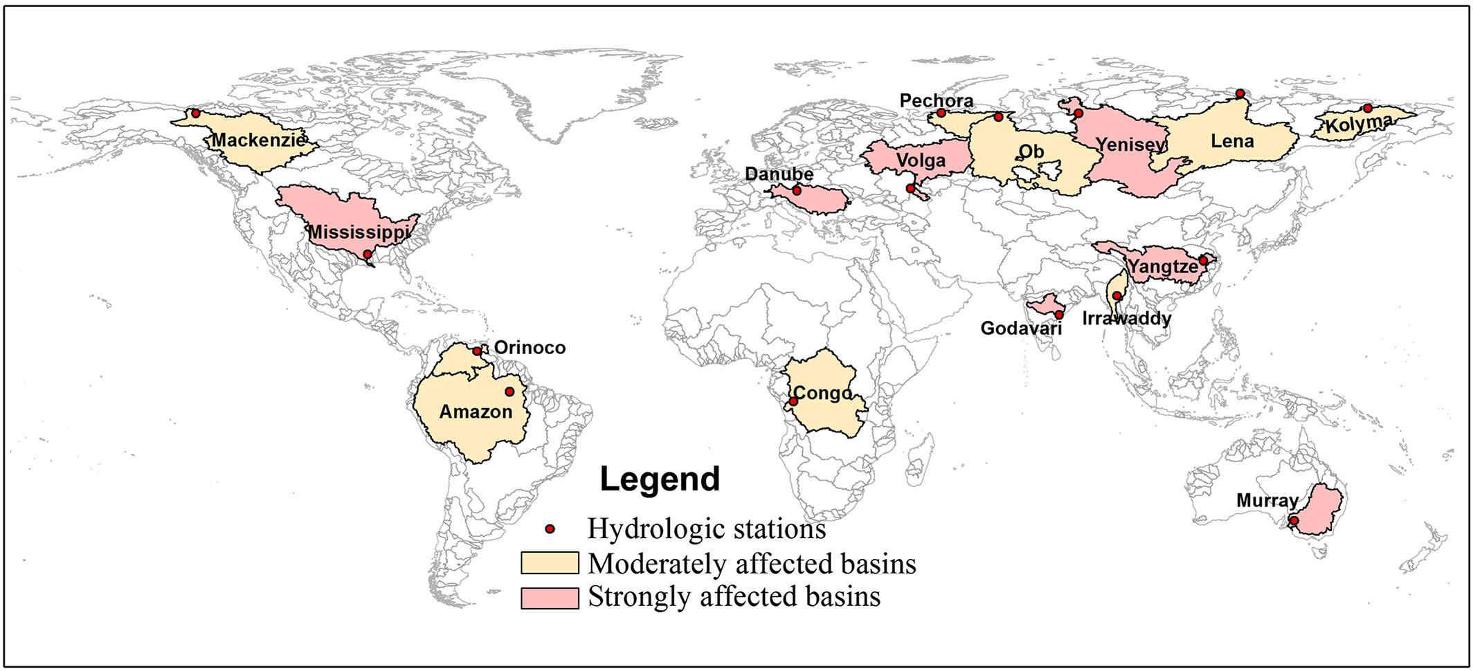 Map of 16 major river basins