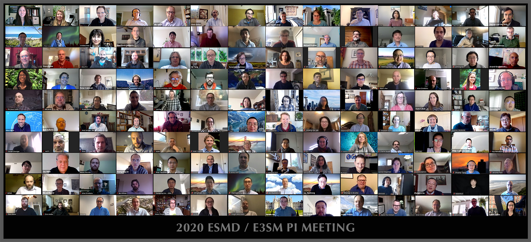 Virtual 2020 ESMD / E3SM PI Meeting