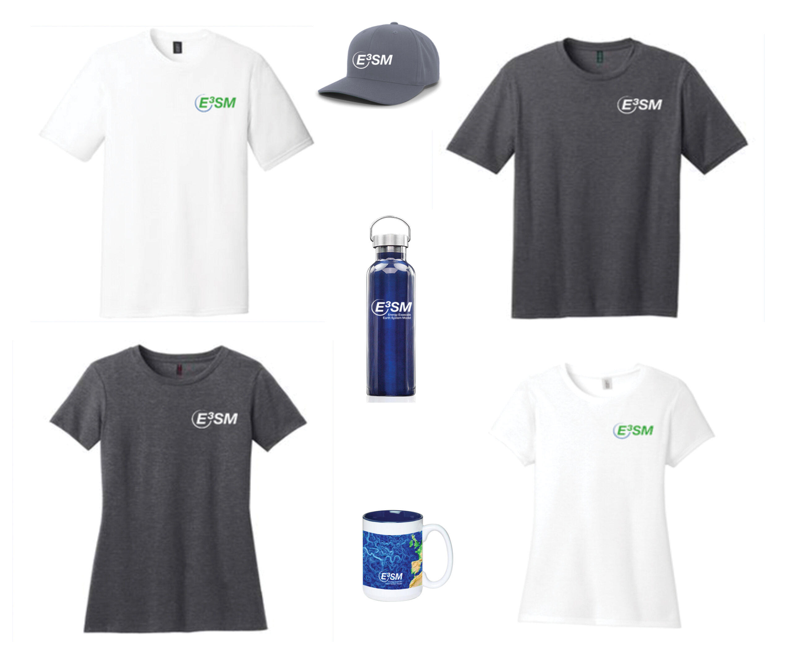Image of E3SM t-shirts and accessories