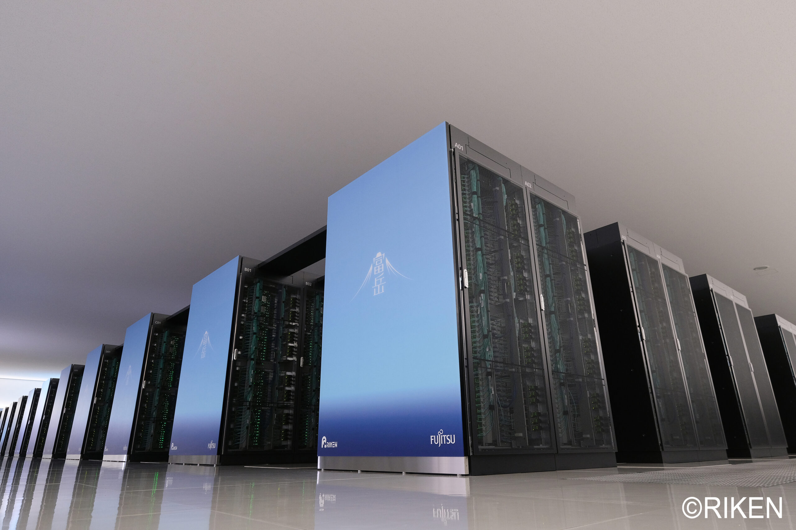 Another view of Fugaku, currently the fastest supercomputer in the world