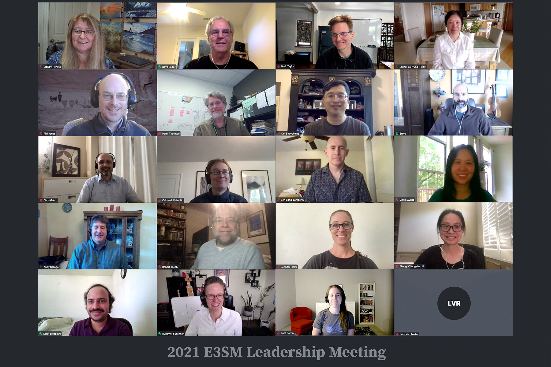 Group photo from the 2021 E3SM Leadership Meeting